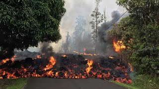 The impact of lava: destruction caused by volcano in Hawaii