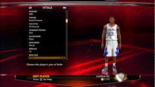 How To Create Jabari Parker On NBA 2K13
