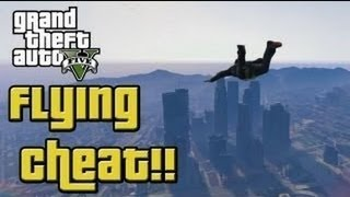 """GTA 5"" - ""SKYFALL"" - Fly Around The Map Using A Cheat Code! (""Superman Cheat Code"")"