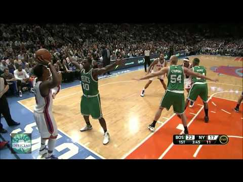 Rajon Rondo alley oop pass to Avery Bradley for the dunk vs.New York Knicks 4/17/2012 - [HD]