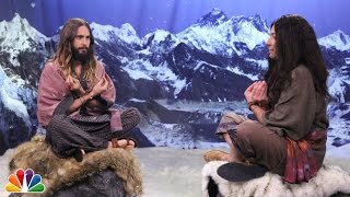 Intense Wiseman Staredown with Jared Leto and Jimmy Fallon