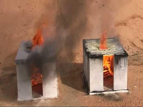 Próba ogniowa zbrojonych płyt z betonu komórkowego YTONG