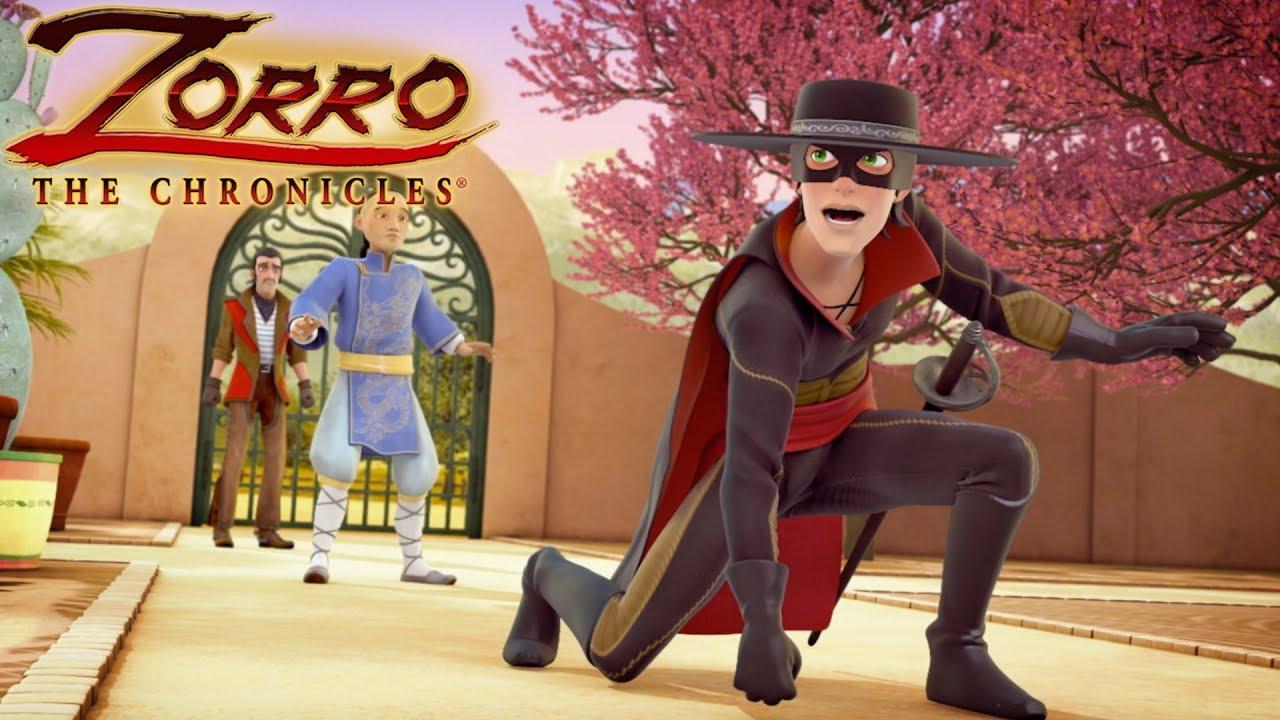 Zorro la leggenda episodio caccia al tesoro cartoni di