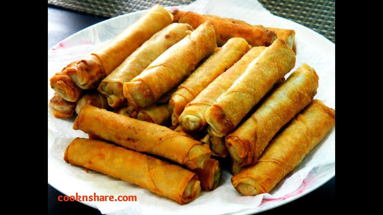 spring rolls garlic chicken spring rolls shanghai style spring rolls ...