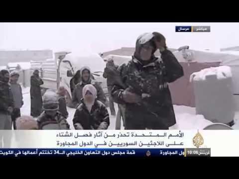 image vidéo  العواصف الثلجية تفاقم مأساة اللاجئين السوريين