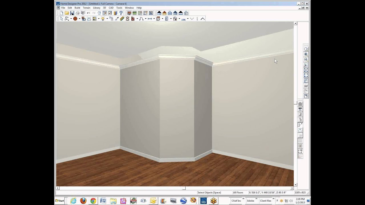Cove Ceiling In Home Designer Pro 2012 Youtube