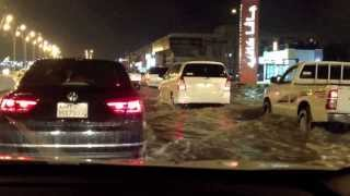 Riyadh, Saudi Arabia, streets flooded (Nov. 16, 2013)