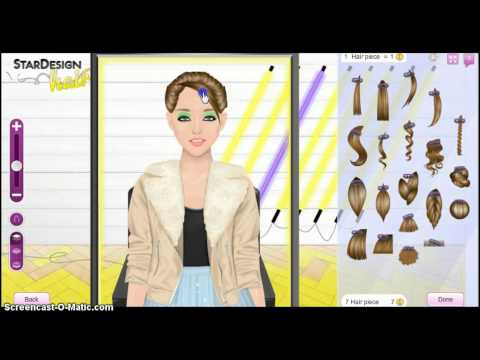 Stardoll- Hair Bun Tutorial, This is my old account, but this is how you can create an adorable bun ;)