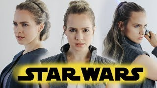 Star Wars: The Last Jedi Hairstyles Tutorial  (Rey & General Leia) - KayleyMelissa