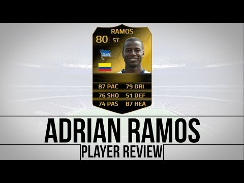 FIFA 14 ULTIMATE TEAM│80 RATED IF ADRIAN RAMOS PLAYER REVIEW!!
