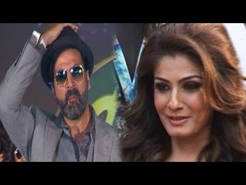 Akshay Kumar & Raveena Tandon ignoring each other ?