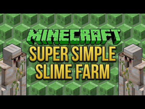 Minecraft: Super Simple Slime Farm (1.8 & 1.9) Tutorial