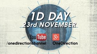 Watch #1DDay on 23rd November - Live on YouTube