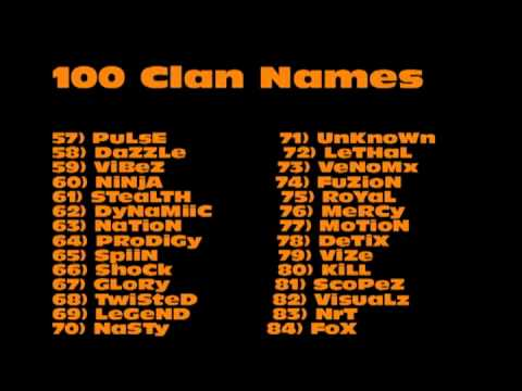 100 Clan Name Ideas - YouTube
