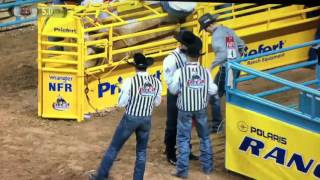 2015 NFR TEAM ROPING ROUND 9