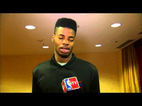 Nerlens Noel speaks to the media at the 2013 Draft Combine