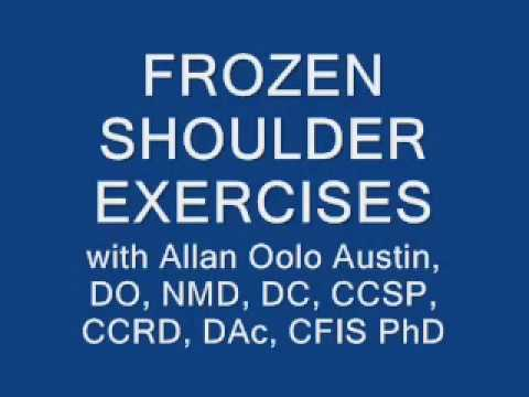 FROZEN SHOULDER EXERCISES pt 2 with Dr. O (Dr. Allan Oolo Austin), Founder of the OAT Procedure