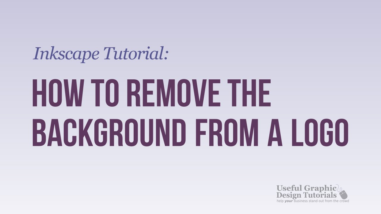 How to remove the background from a logo inkscape for Removethebackground com