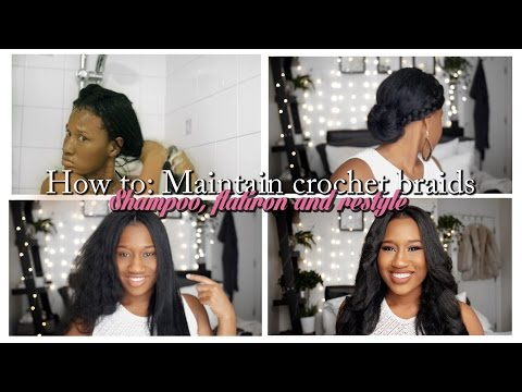 Crochet braid maintenance| *REQUESTED* how to make your braids look new even after 5 weeks