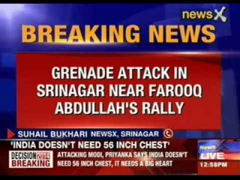 Grenade attack in Srinagar near Farooq Abdullah's rally