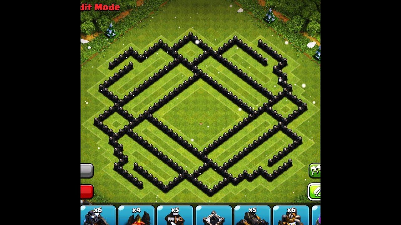 Th9 trophy base youtube clash of clans best th9 anti hog farming base