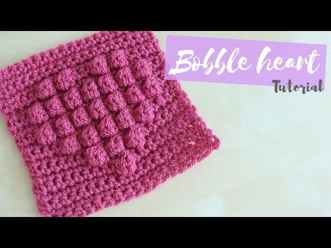 CROCHET: Bobble Heart Square | Bella Coco