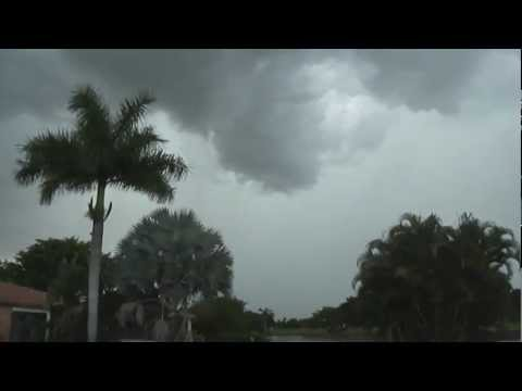MASSIVE STORM | Wall Cloud Formation, Colliding Weather Fronts, LOW Clouds