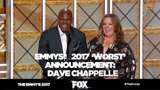 THE EMMY'S 2017 | Dave Chapelle improvisation announcement | FOX