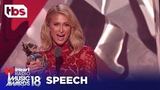 Paris Hilton Introduces Ariana Grande's Pet Dog, Toulouse: 2018 iHeartRadio Music Awards | TBS