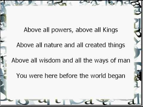 Above all worship and praise song with lyrics youtube