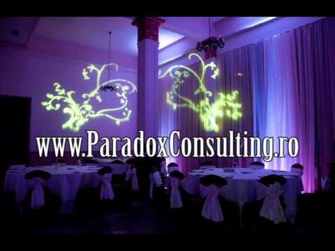lumina ambientala sala Arad www.ParadoxConsulting.ro gobo monograme logo nunta