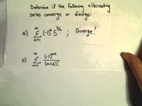 Alternating Series - Another Example 4