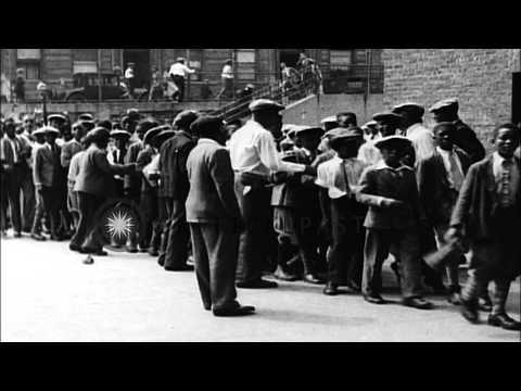 Public schools stormed by children as vacations end, New York. HD Stock Footage