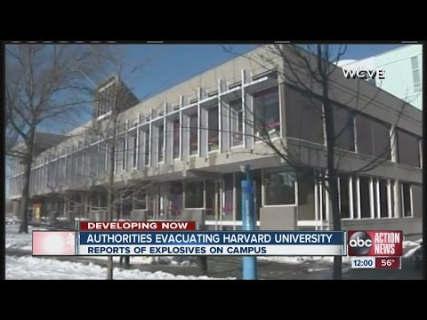 Harvard buildings evacuated over report of explosives