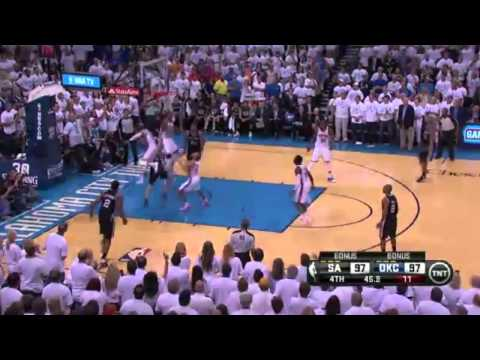 Oklahoma Thunder vs San Antonio Spurs  Nba playoff highlight game 6  kevin durant