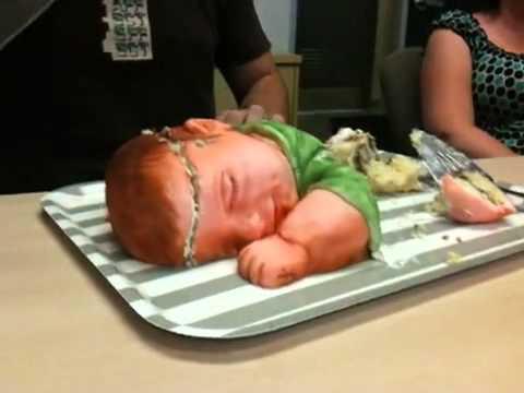 Baby Shaped Cake Images : Cake Shaped like Baby! - YouTube