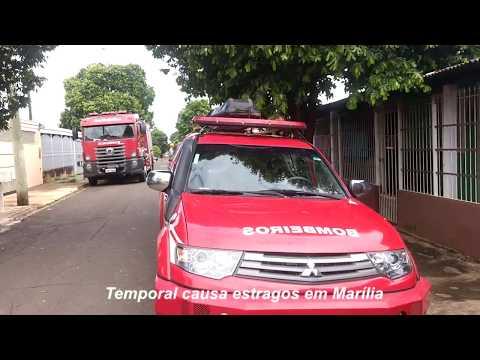 Temporal: moradores contabilizam prejuízos em Marília