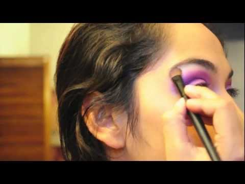 tutorial:cher lloyd- want u back makeup! (purple& pink glittery eye!)