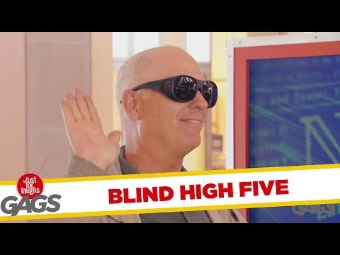 High Fiving Blind Guy