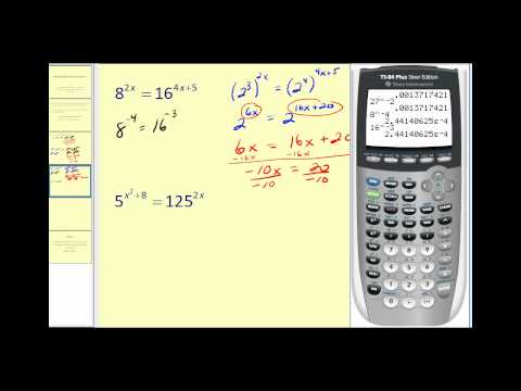 Solving Exponential Equations - Part 1