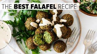 THE BEST FALAFEL RECIPE   crispy fried and baked falafel options (vegan)