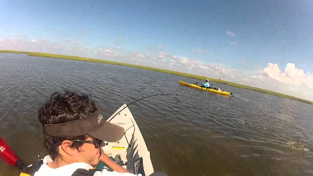 Casting with cade kayak red fish texas gulf coast youtube for Texas gulf coast fishing