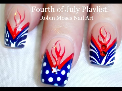 Easy 4th of July NAIL ART ideas!