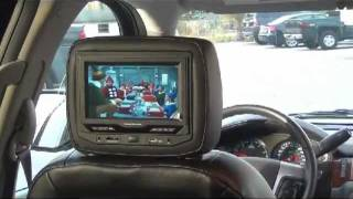 GM Chevrolet GMC Cadillac Headrest DVD System Integrated