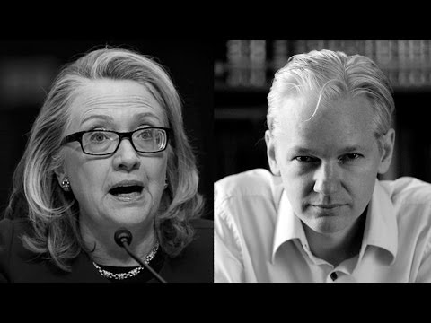 "Julian Assange Responds to Hillary Clinton on Edward Snowden Getting a ""Fair Trial"""