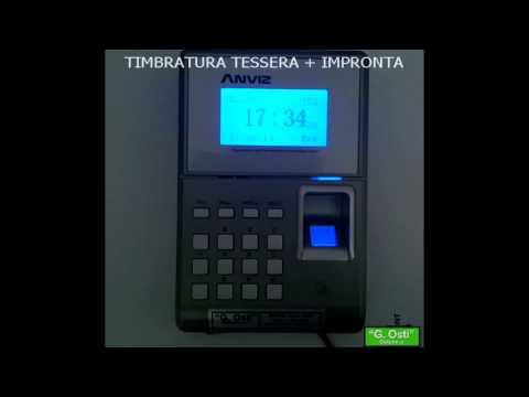 TC550 Rilevazione presenze biometrico timbratura con impronta digitale più tessera card rfid