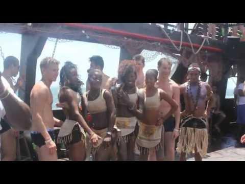 Экскурсия на пиратском корабле и плавание с акулами и скатами. Доминикана 2013... - экскурсии 2013