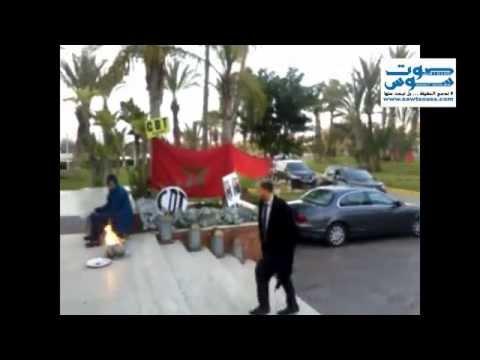 انفراد :فيديو نجل بنكيران وهو يلج الفندق الذي يشهد اعتصام اكثر من 200 مستخدم ومستخدمة باكادير