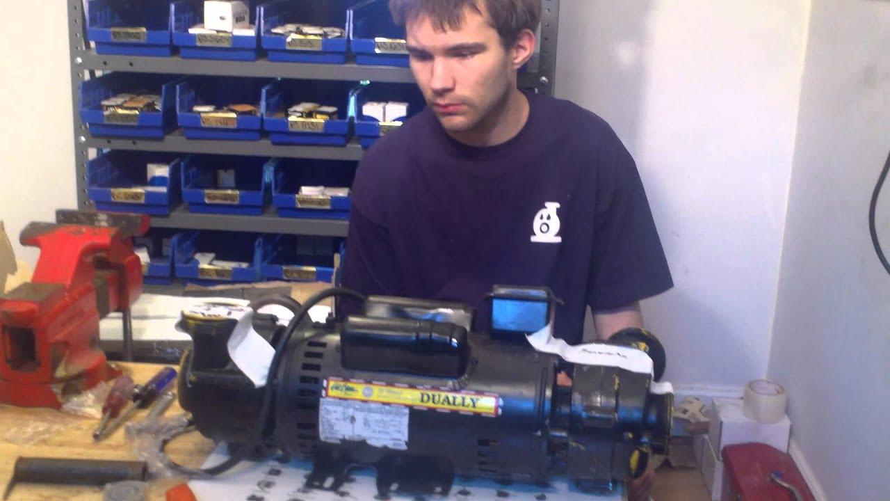 Cal spa dually pump with loud bearings youtube for Cal spa dually pump motor