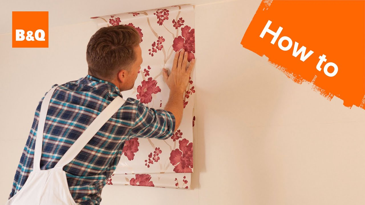 how to put up wallpaper horizontally